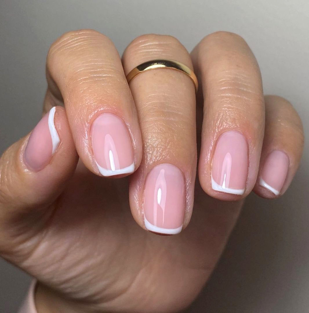 Summer french nails 2021