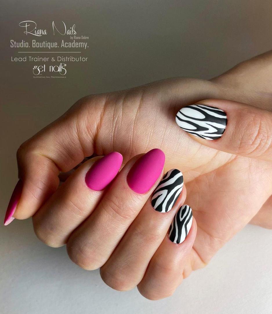 23+ Cute Zebra print nails to 2021