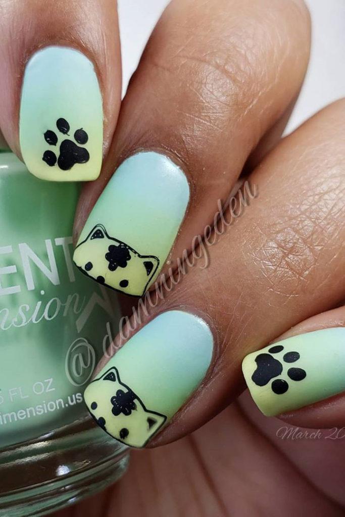 33+Gorgeous Gradient Nails Art Design Ideas 2020