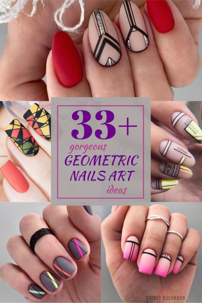 Gorgeous Geometric Nails Art Ideas