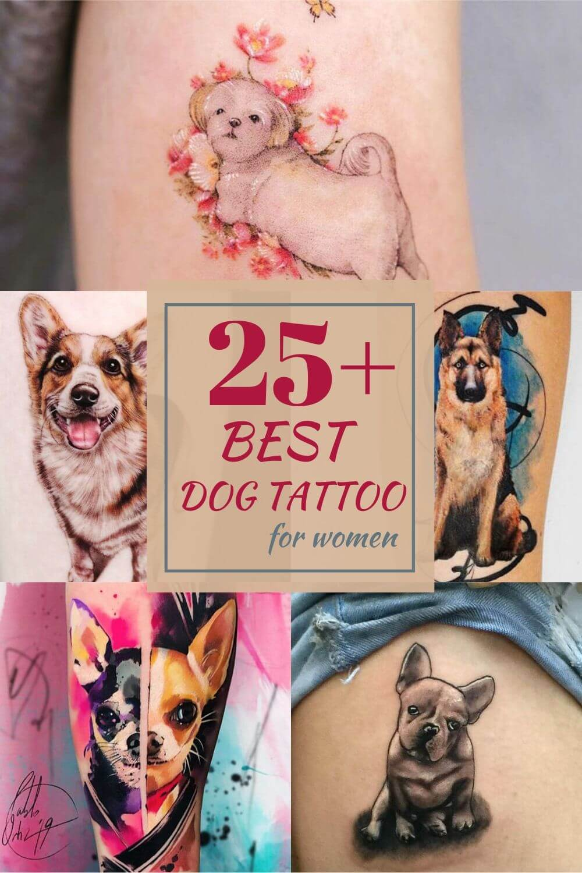25+ Best dog tattoo for women