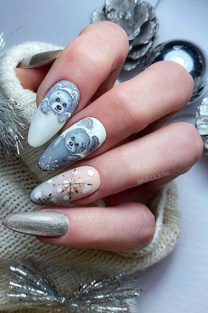 18+ Elegant Winter nails ideas for 2021